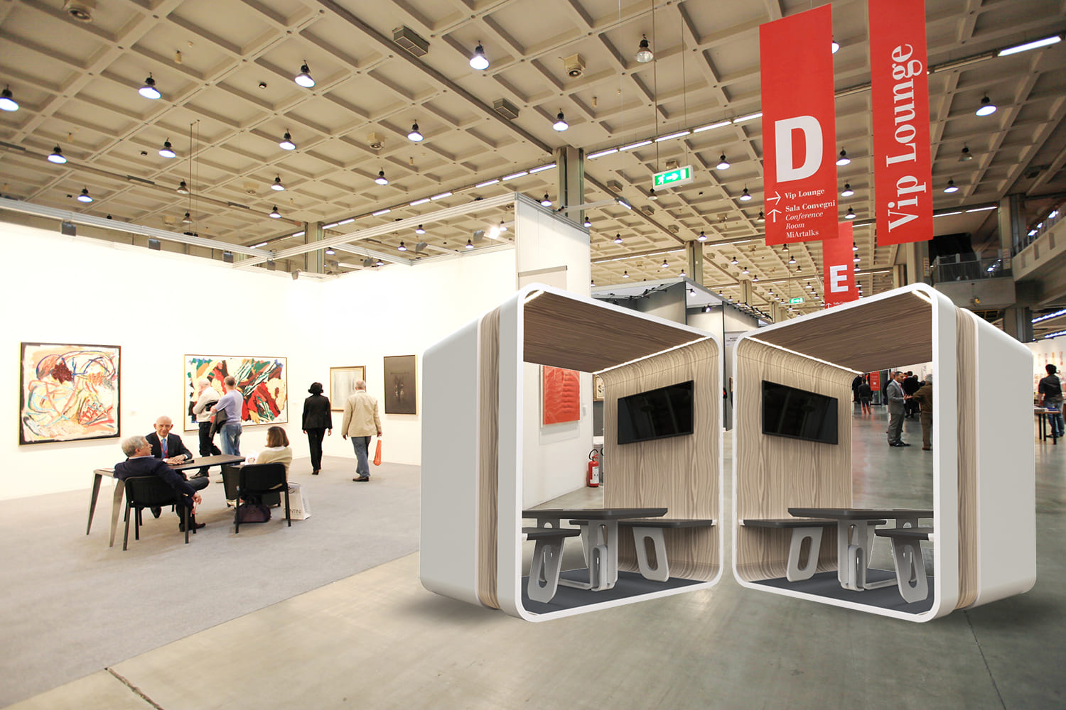 new expo with 24 work pods